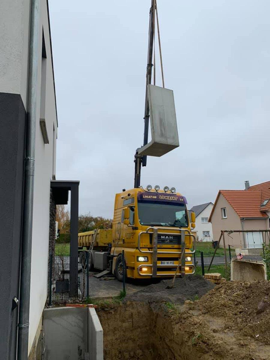 Livraison murs soutènement Haut-Rhin
