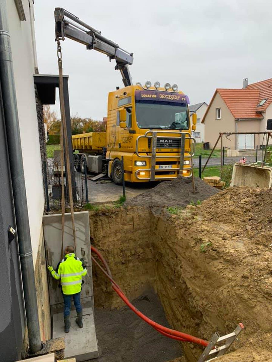 Pose murs soutènement Haut-Rhin